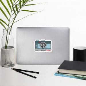 mockup 07d19ba8 300x300 - Sticker - Camera w/Dog