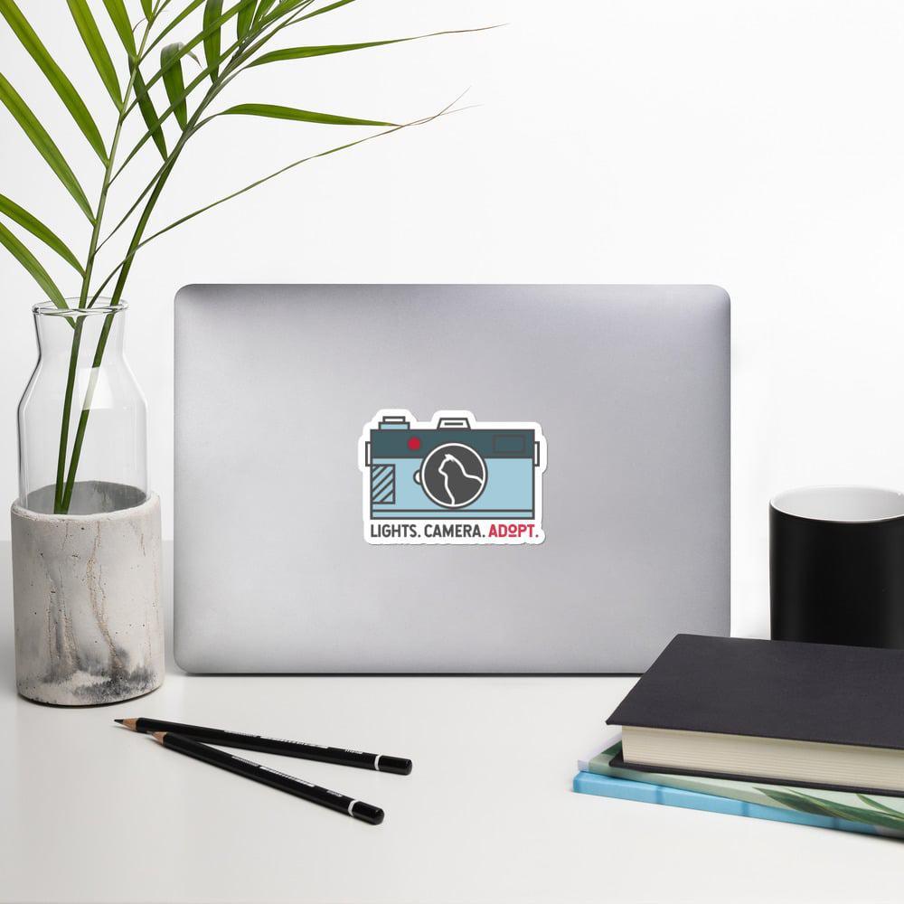 mockup ea1b4476 - Sticker - Camera w/Cat