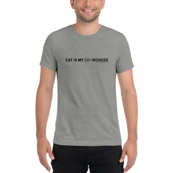mockup 2c2cda71 600x600 - CAT IS MY CO-WORKER Unisex Tri-blend Tee