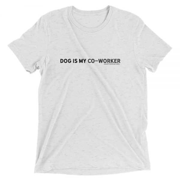 mockup 3ac7e1de 600x600 - DOG IS MY CO-WORKER Unisex Tri-blend Tee