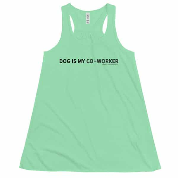 mockup 3e0ebe53 600x600 - DOG IS MY CO-WORKER Women's Flowy Racerback Tank