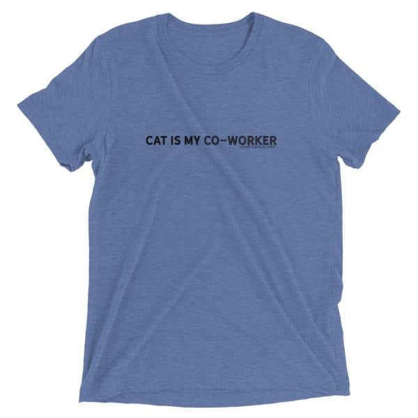 mockup 5de32552 600x600 - CAT IS MY CO-WORKER Unisex Tri-blend Tee