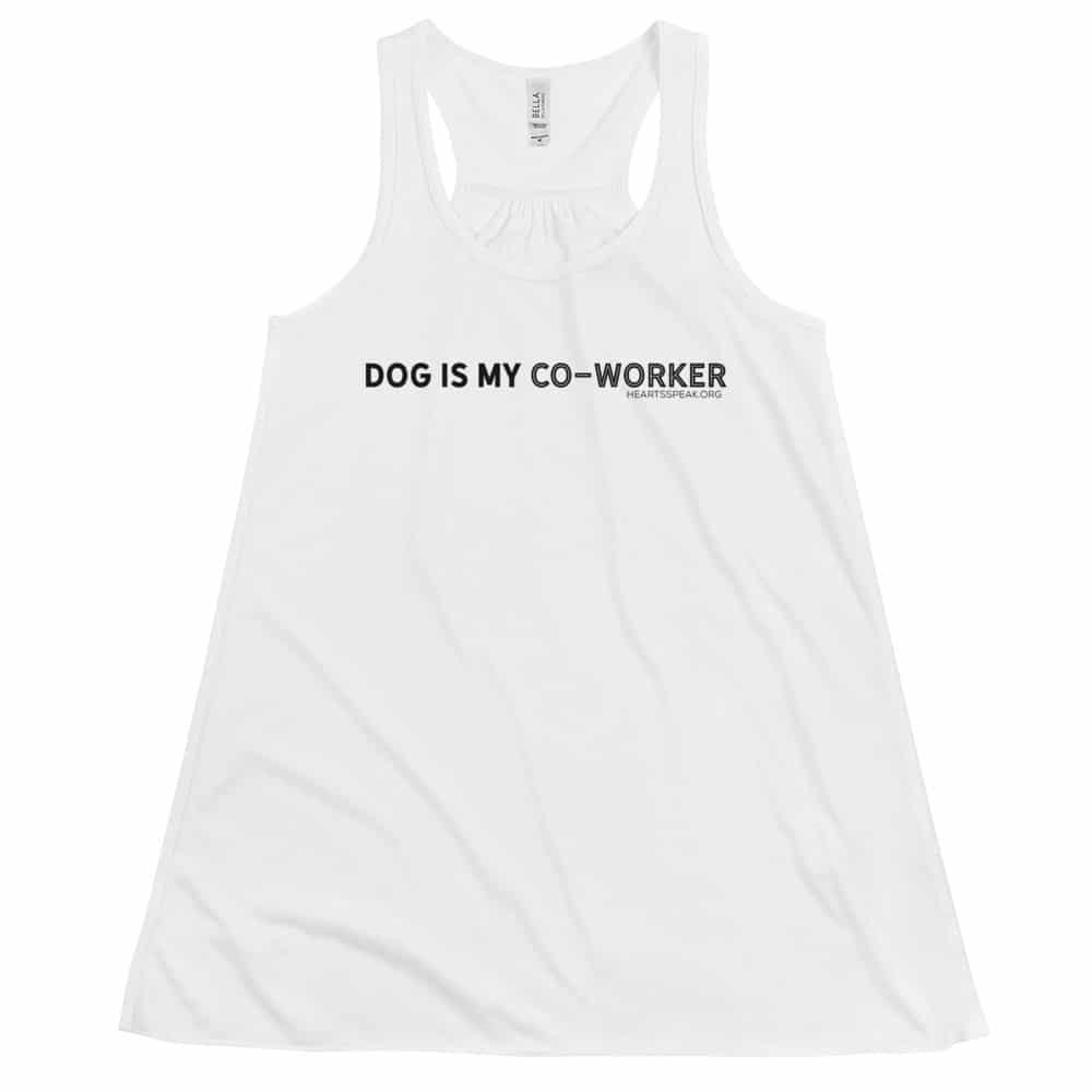 mockup ad963b68 - DOG IS MY CO-WORKER Women's Flowy Racerback Tank