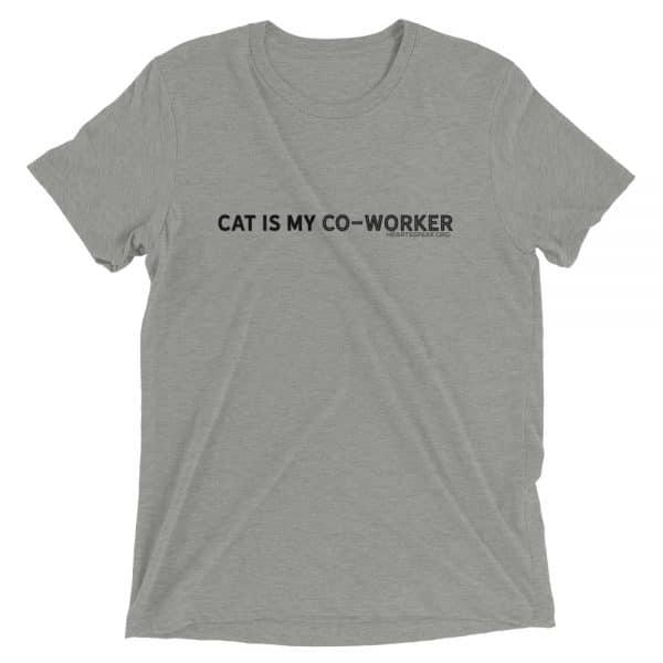 mockup cd9b39d8 600x600 - CAT IS MY CO-WORKER Unisex Tri-blend Tee
