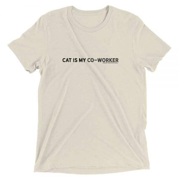 mockup d621beb5 600x600 - CAT IS MY CO-WORKER Unisex Tri-blend Tee