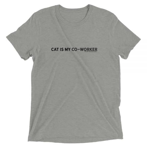 mockup d68d994a 600x600 - CAT IS MY CO-WORKER Unisex Tri-blend Tee