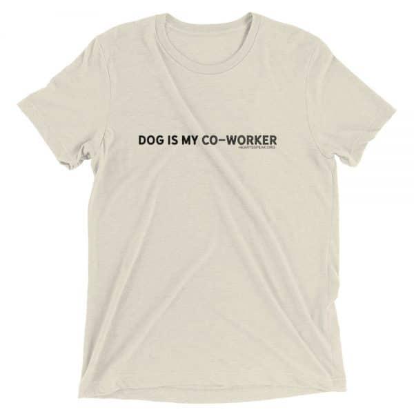 mockup da8a6c72 600x600 - DOG IS MY CO-WORKER Unisex Tri-blend Tee