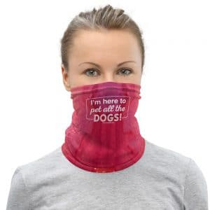 mockup 69357123 300x300 - I'm Here to Pet All the Dogs! Neck Gaiter (Pink/Orange)