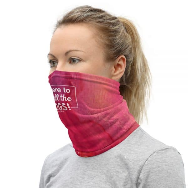 mockup caefbd37 600x600 - I'm Here to Pet All the Dogs! Neck Gaiter (Pink/Orange)