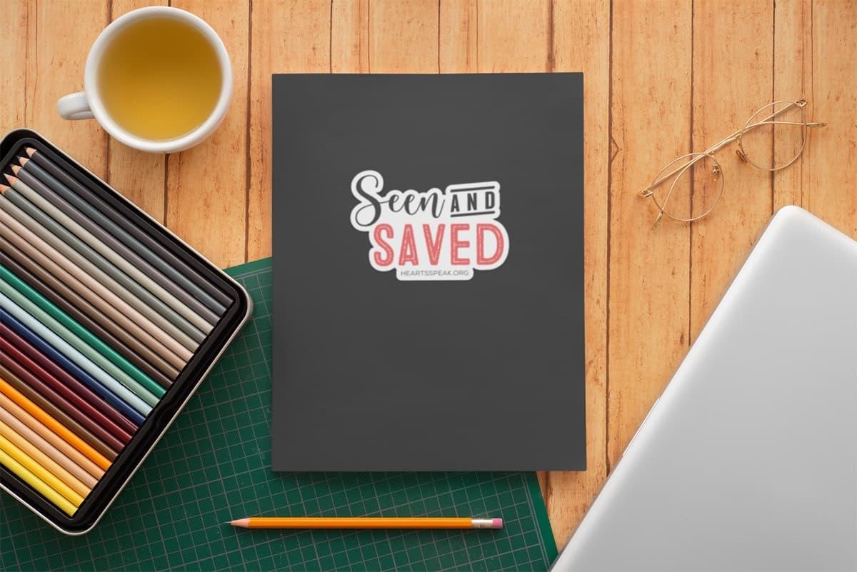 SeenAndSavedNotebook - Sticker - Seen And Saved