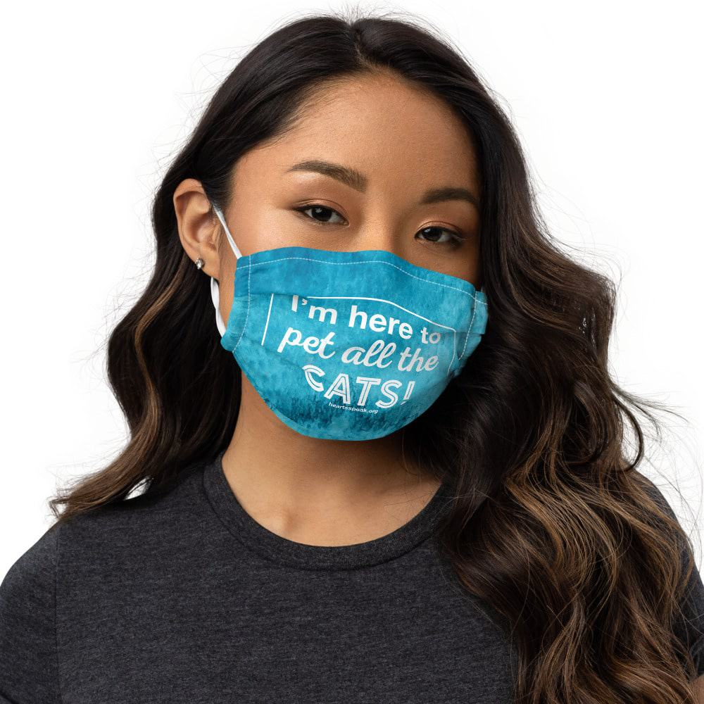 mockup 7e4b4672 - I'm Here to Pet All the Cats - Face mask