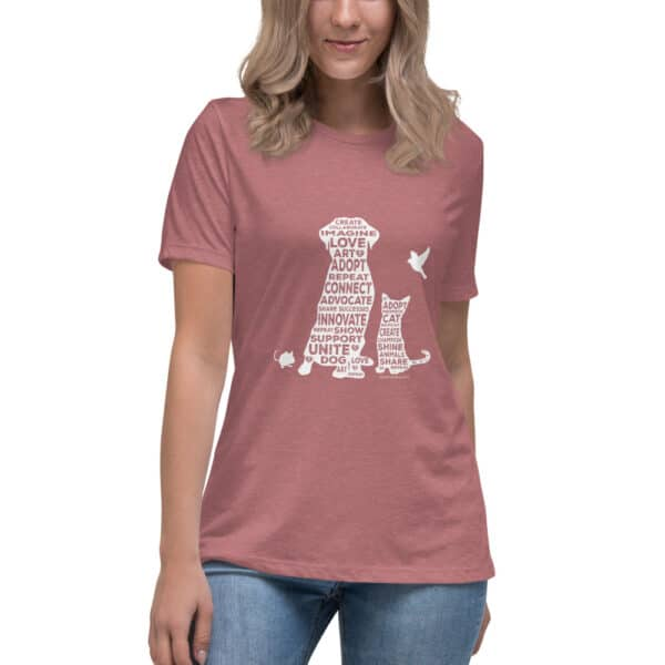 mockup 4f3f63c6 600x600 - Create. Promote. Adopt. Women's Relaxed Tee