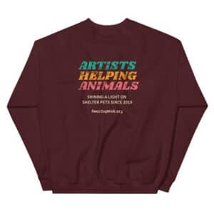 mockup 87f2d691 300x300 - ARTISTS HELPING ANIMALS HeARTs Speak 10 Yr Anniversary 2 Sided Unisex Sweatshirt